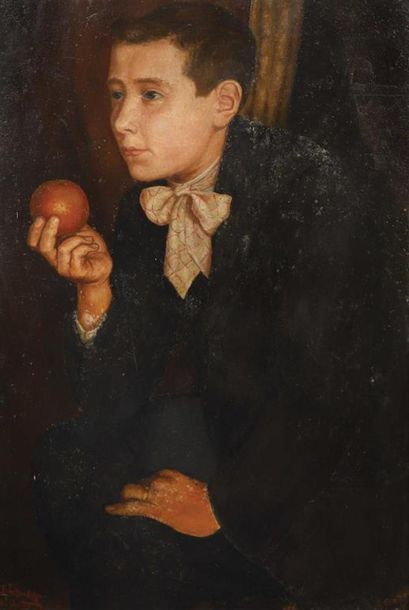 Juan de la Cruz ESPOLITA. Jeune homme à l'orange,...