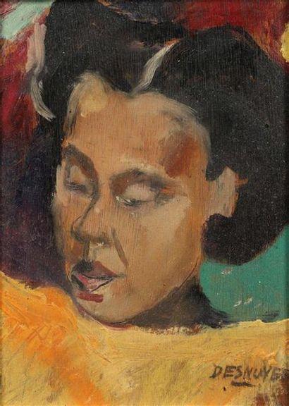 François DESNOYER (1894-1972). La tête noire...