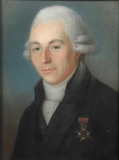 Ecole FRANCAISE vers 1790. Portrait dit de...