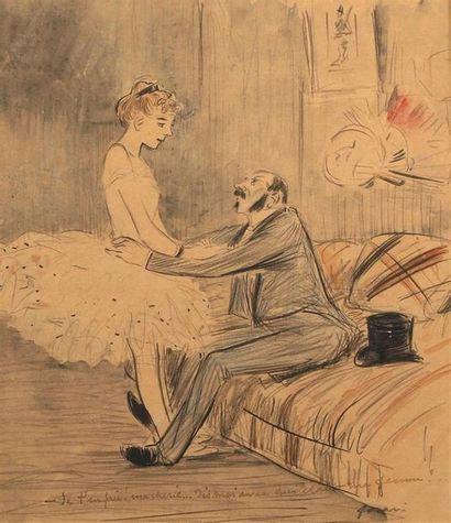 Jean-Louis FORAIN (1852-1931). Je t'en prie...
