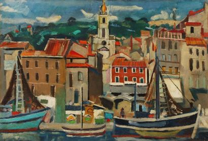François DESNOYER (1894-1972). Port de Sète....