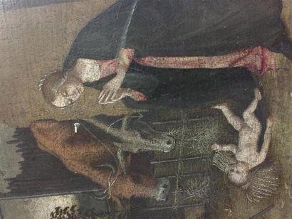 Ecole du PIEMONT vers 1503, atelier de MACRINO D'ALBA. L''Adoration des bergers....