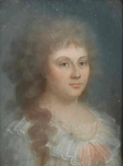 Ecole FRANCAISE du XVIIIème siècle. Portrait...