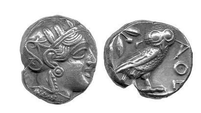 Athènes. Tétradrachme (c. 450 -c. 400). Tête...