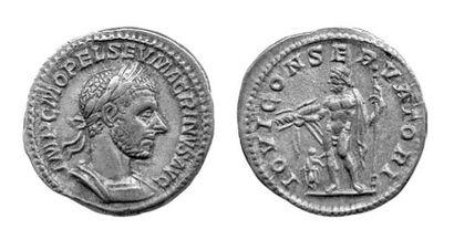 MACRIN (217-218). Denier (217-218). Buste...