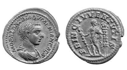 DIADUMENIEN (+ 218). Denier. (217-218). Buste...
