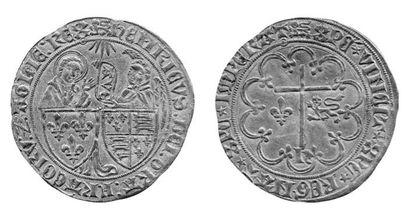 HENRI VI (1422-1453). Salut d'or. 2ème ém....