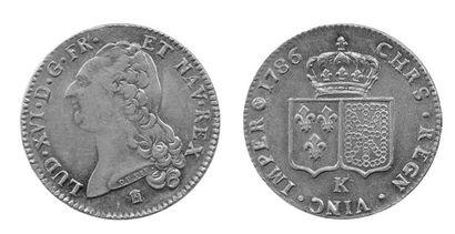 LOUIS XVI (1774-1792). Double louis au buste...