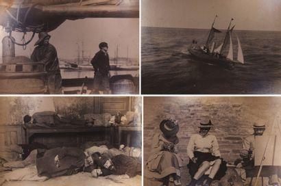 Manche et côte atlantique, c. 1890. Marins,...