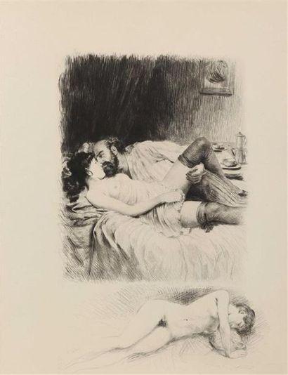 * BÉCAT. VERLAINE (Paul). Chansons pour Elle et Odes en son Honneur. Paris, les...