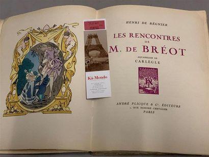 * BONFILS. RÉGNIER (Henri de). Le trèfle rouge ou les amants singuliers. Paris,...