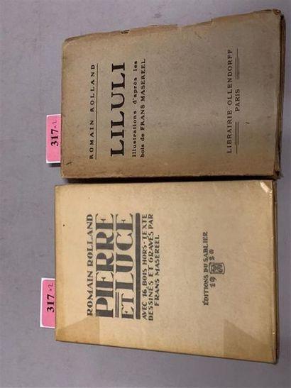 * MASEREEL. ROLLAND (Romain). Pierre et Luce. Genève, Editions du sablier, 1920....