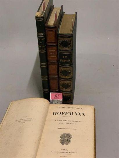 * Ensemble de 4 ouvrages en 4 volumes, comprenant : - GAVARNI. HOFFMANN (E.T.A.)....
