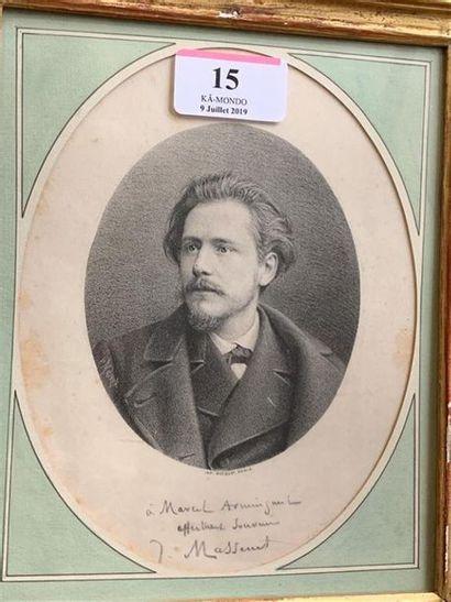 [MASSENET (Jules)]. MAUROU. Portrait gravé...