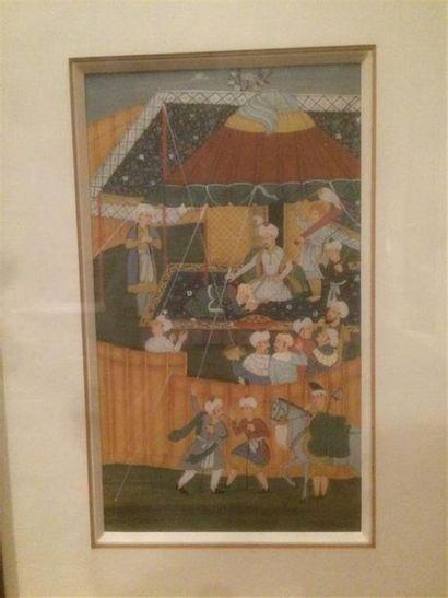 Lot de miniatures perses comprenant : -Une...