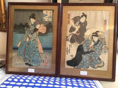 Utagawa Toyokuni III (1786-1865) et Utagawa...