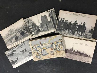 Ensemble de cartes postables : Paris, Inondation...