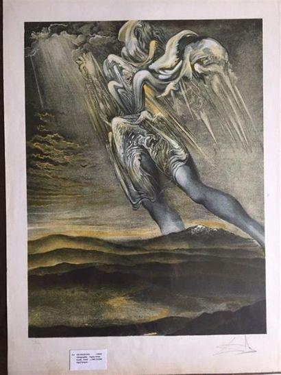 Salvador DALI (1904-1989), d'après. L'ange....