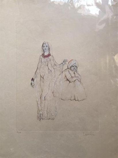 Léonor FINI (1907-1996) Le ballet ; Courtisane et sultan. Deux lithographies en...