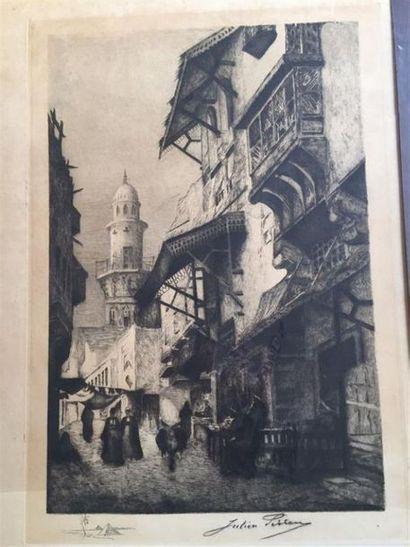Julien Auguste PERREY (1871-?). Ruelle du...