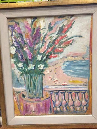 Michel GEORGES-MICHEL (1883-1985). Bouquet...