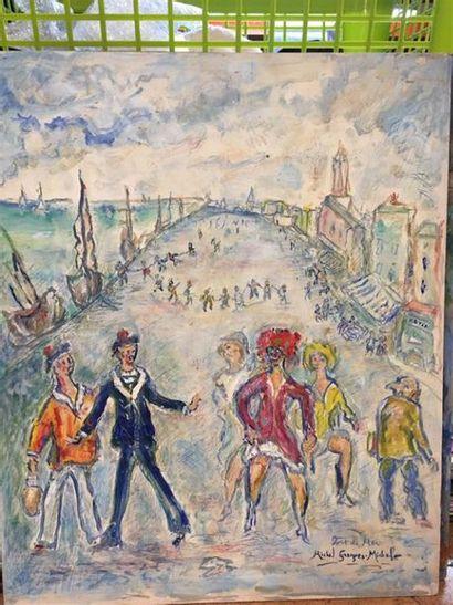 Michel GEORGES-MICHEL (1883-1985). Port de...
