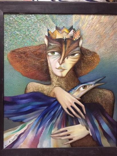 Alexandre SIGOV (né en 1955) Princesse chat....