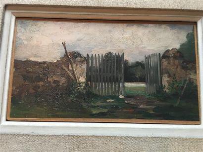 École FRANCAISE du XXe siècle. Mur dans la...