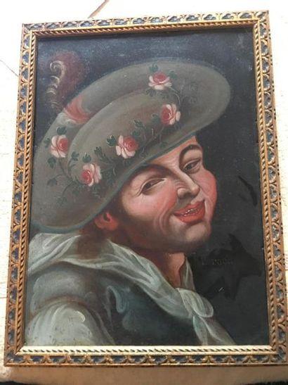 École ITALIENNE du XVIIIe siècle. Portrait....