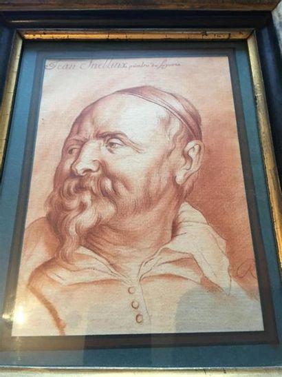 Jean Snellinx d'après Rubens. Portrait d'homme...
