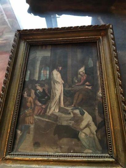 École FRANCAISE du XIXe siècle. Jésus devant...