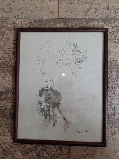 Louis ANQUETIN (1861-1932). Etude de portrait...