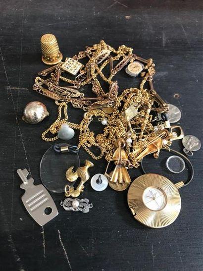 NON VENU///Lot de bijoux fantaisie et ac...