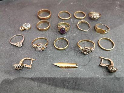 Un lot d'or 750 millièmes comprenant : -...
