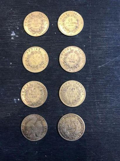 FRANCE : -2 x 10 francs or 900 millièmes,...