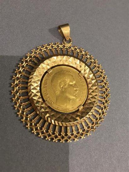 Pièce de 20 Frs Napoléon montée en pendentif...