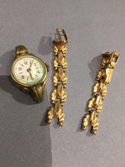Bracelet de montre en or 750 millièmes. On...