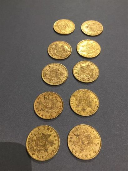 FRANCE : -1 x 20 francs or 900 millièmes...