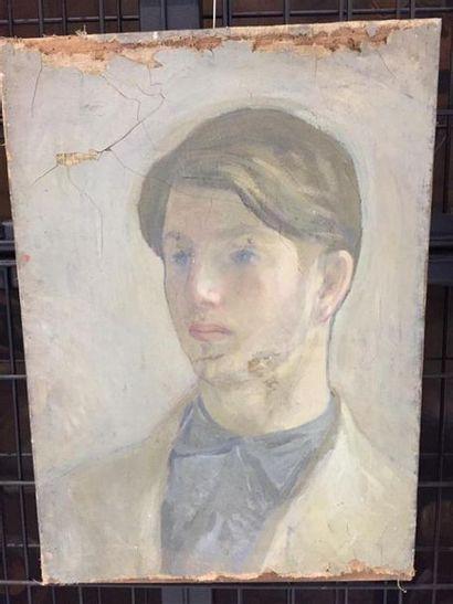 Ecole FRANCAISE du XXe siècle. Portrait de...