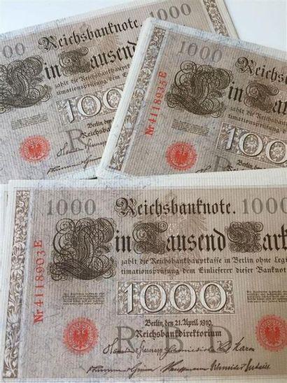 ALLEMAGNE : -28 billets x 1000 Reichsmark...