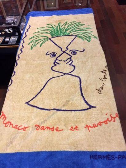 HERMES Paris : SERVIETTE en coton éponge...