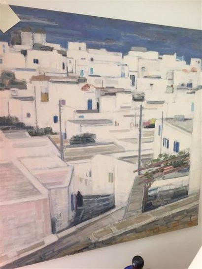 Ginette RAPP (1928-1998). Mykonos, la ruelle...