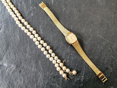 COLLIER de perles de culture chocker sur...