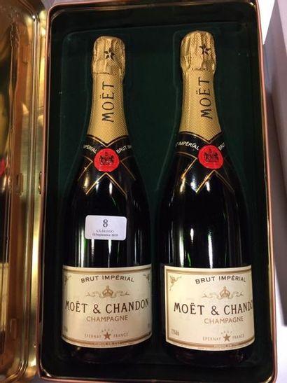 2 bouteilles Champagne Moët & Chandon (non...