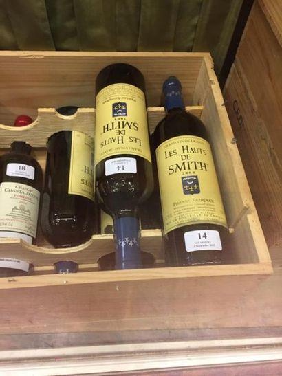 5 bouteilles Les Hauts de Smith - Pessac Léognan, 2004.