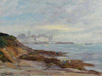 Jean SIEURIN (né en 1931). Bord de mer à...