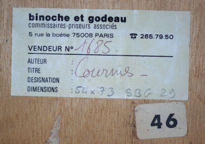 Alfred Courmes (1898-1993) L'homme blesse?, 1929 Huile sur toile maroufle?e sur...