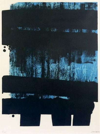 Pierre SOULAGES (né en 1919). Lithographie n° 36, 1974. Lithographie deux couleurs...