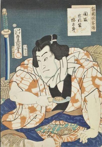 Lot de trois estampes: KUNISADA Utagawa...