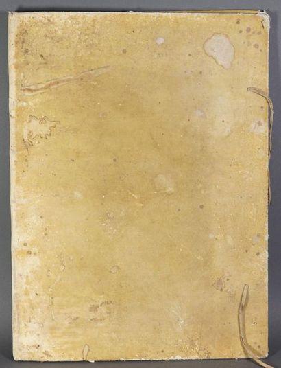 G. Album de papier vierge XVIIIème. In-folio,...